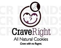 CraveRight Cookies Packaging Design