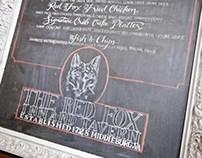 Chalkboard Calligraphy: The Red Fox Inn Lunch Menu