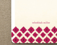 Ikat Personal Stationery