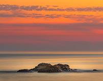 Sunset over the ocean II
