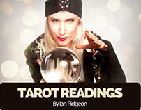 Flyer for Ian Pidgeon's Tarot Reading