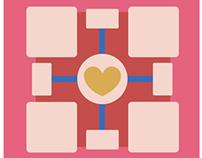 Companion Cube Diptych