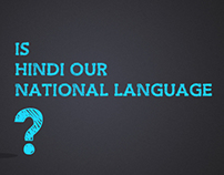 Is Hindi, the national language of India?