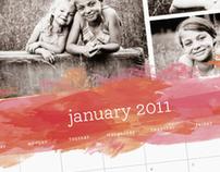 Aquarelle Calendar