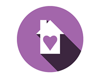 Flat Logo for Home Luv