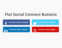 Flat Connect social buttons