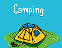 Camping illustration Collection