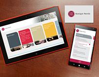 Oddo banque privée pour tablette et mobile