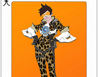 Tracer Playing Card