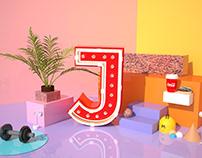 Tipografía 3d J