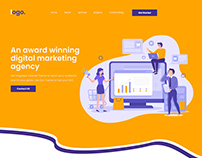 seo & digital marketing psd template design