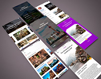 UI for an travel guide app