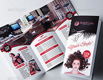Hair Salon Trifold Brochure