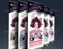 Hair Salon Roll Up Banner