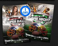 Super Bowl Flyer Template Bundle