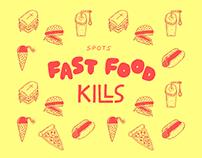 Fast Food Kills - Spot Illustration