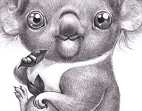 Koala - cute animals serie