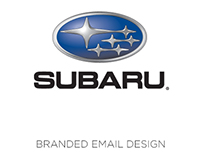 Subaru branded email design