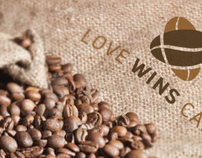 "logo for: ""Love wins cafe"""