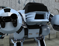 """ED-209"" 3D Modeling -Fan Made-"