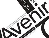 AVENIR - afiche tipográfico