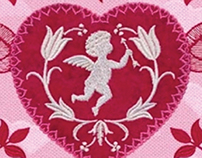 Cupid and Floral Digital Embroidery Licensed Collecti