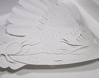 Hummingbird Paper Sculpture