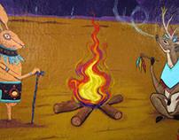 Mural: Ceremonia del agua