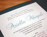 Arielle's 18th Birthday Invitations