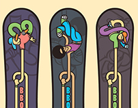 ILLUSTRATION  FOR SNOWBOARD