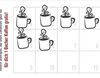 "Stempelkarte ""Becher Kaffee"", Tante Polly's"