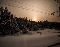Moscow and traveled by train to Siberia and back 8000km