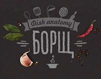 Dish anatomy. Borsch
