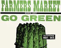 Farmers Market Asparagus Poster