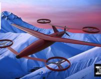 V-tol cargo drone design