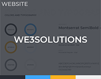 WE3 Solutions Website Design Concept