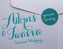 "Invitation / ""Mint Summer Wedding"""