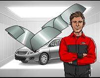 Lebeau Vitre d'Auto pour l'agence BCP