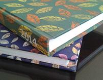 Encuadernación de cuadernos diseñados