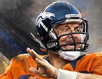 Peyton Manning - An Illustrated Print