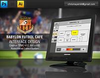 Interface Design - Babylon Futbol Cafe