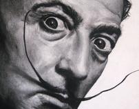 Charcoal: Salvador Dali