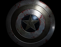 Damaged Captain America Shield