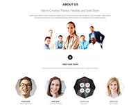 Baciro - Creative One Page PSD Template