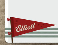 Vintage Pennant Stationery