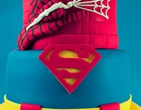 Superhero Tiered Cake