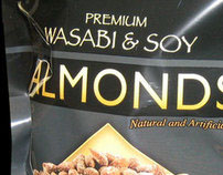 Wasabi Almonds Bag