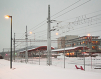 Station on snow day