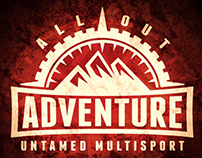 ALL OUT Adventure Logo Design