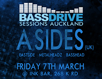 Bass Drive Sessions Auckland: A Sides, promo poster